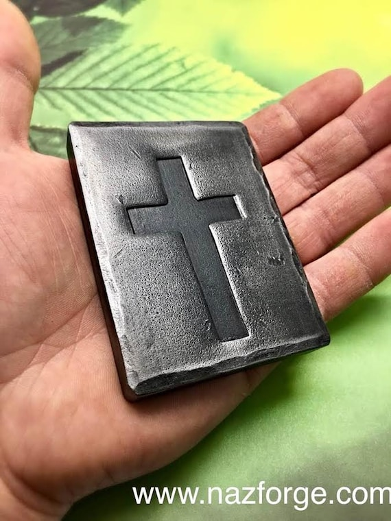 CROSS PAPER WEIGHT or Decoration - Personalized Option Available - Wedding , Confirmation , First Communion ,  Gift Idea - Hand Forged
