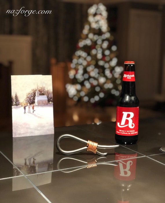 CHRISTMAS GIFT for MEN - Personalized Bottle Opener - Company Co Workers Employees Family Members - Stocking Stuffings - Custom Man Gift