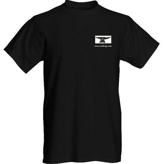 NAZ FORGE T-Shirt (Large or X-Large) - Black -Signature Soft men's t-shirt  superior print quality : 155 grams, 100% ringspun cotton.