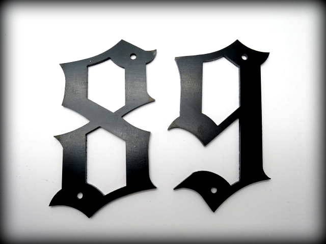METAL HOUSE NUMBERS - 5 Old English Style Numbers - Street ... Old English Numbers 1 10