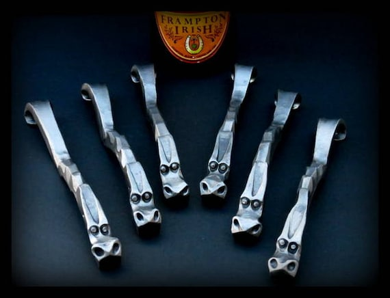 6 GROOMSMEN GIFTS DRAGON'S Claw  Bottle Openers - Personalization Option available Signed by Blacksmith Naz  Groomsman Ushers Gift  Men