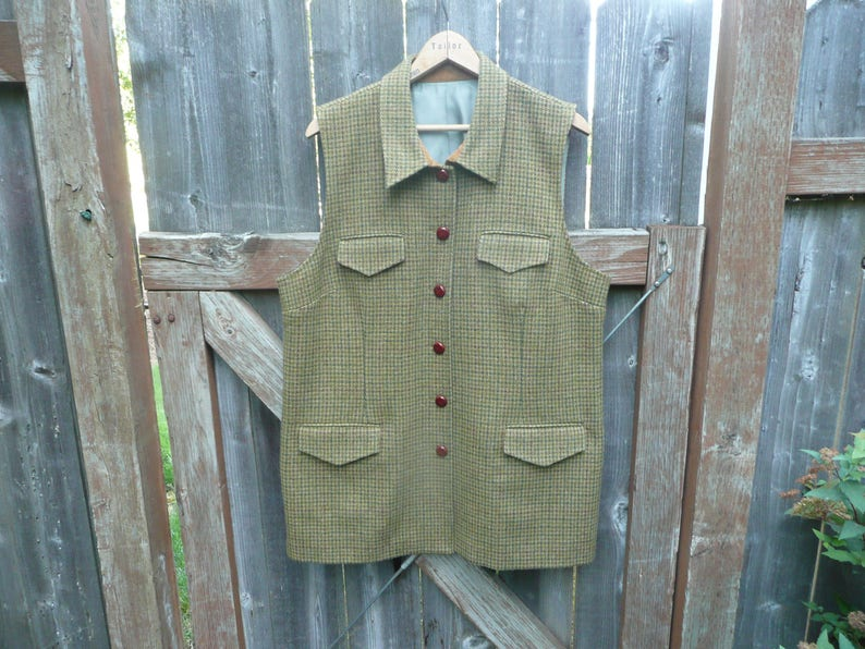5dac013c4558b Vintage Orvis Tweed Wool Outdoor Sports Vest Hunting Fishing | Etsy