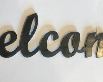 Metal Cutout Metal Wall Decor Welcome Home Decor Living Room Decor Sign Wall Hangings Metal Signs Personalized Signs customized Farmhouse