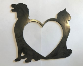 Metal Cutout Metal Wall Decor Dog Cat Home Decor Living Room Decor Sign Wall Hangings Metal Signs Personalized Signs Rustic chic Farmhouse