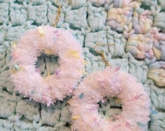 Soft fairy earrings {confetti cake}