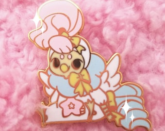 Plush Baby Bird Posy Enamel Pin