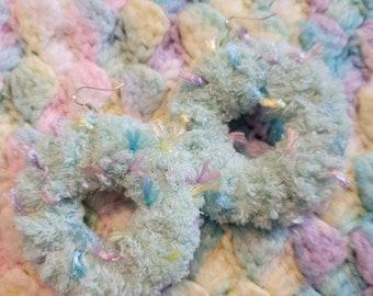 Soft fairy earrings {mint confetti}