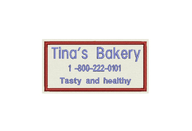 Personalize it! Sew on or Iron On 4 x 2 Custom Embroidered Patch add your business name