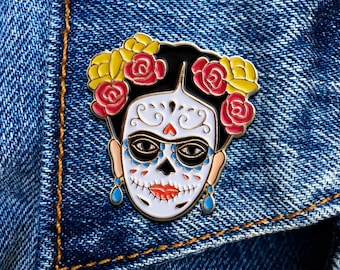 Day of the Dead Artista Pin, Soft Enamel Pin, Jewelry, Art, Artist, Gift (PIN92)