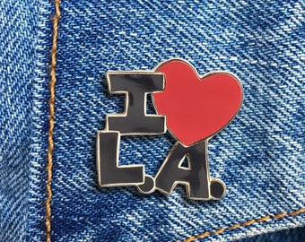 I Heart LA Pin, Los Angeles Hard Enamel Pin, Jewelry, Art, Gift (PIN35)