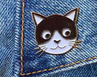 Kitty Pin, Soft Enamel Pin, Jewelry, Art, Gift (PIN5)