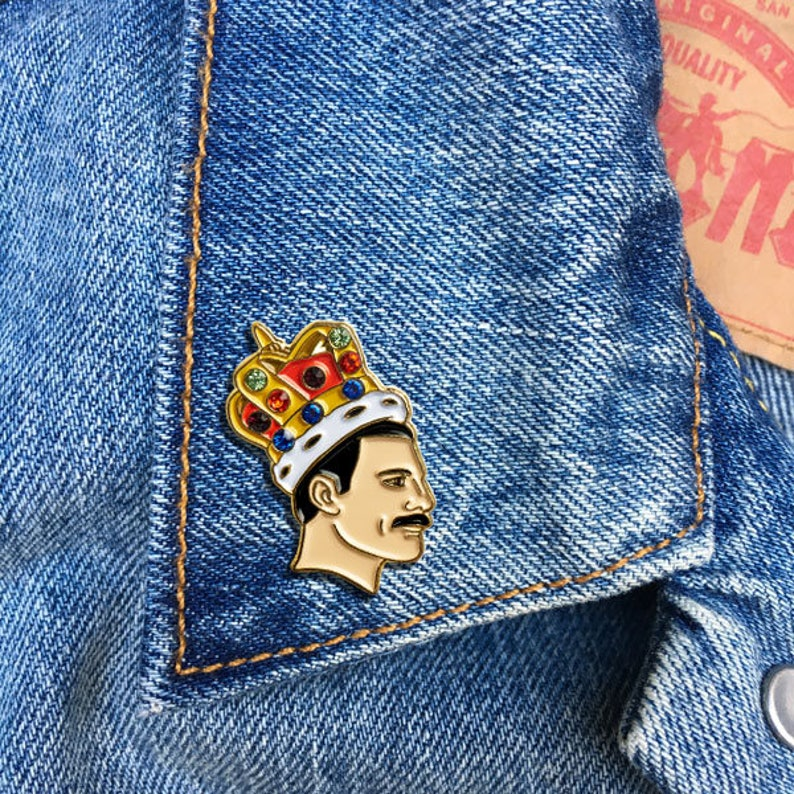 9a11ed5c3ce Freddie Mercury Pin Soft Enamel Pin Jewelry Art Gift