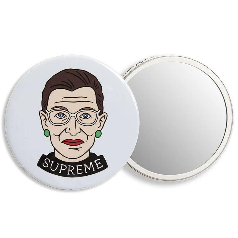 d51501a2102c Ruth Bader Ginsburg Pocket Mirror, Accessory, Stocking Stuffer, Gift Idea,  Party Favor, Political (Item PM11)