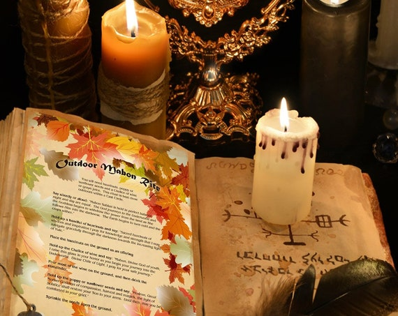 MABON OUTDOOR RITE  Ritual  for Witchcraft, Wicca, Pagan Book of Shadows - Instant Download