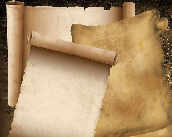 Scrolls 3 Blank Pages for Book of Shadows