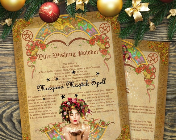 Yule Wishing Powder Spell 2 Pages