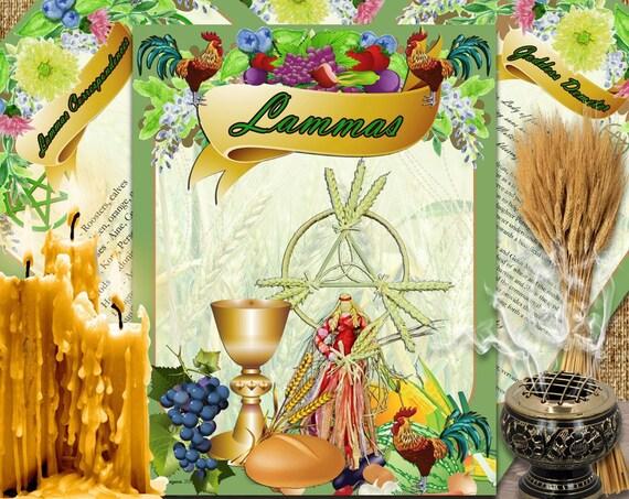 Lammas Lughnasadh Sabbat 4 Pages Instant Download