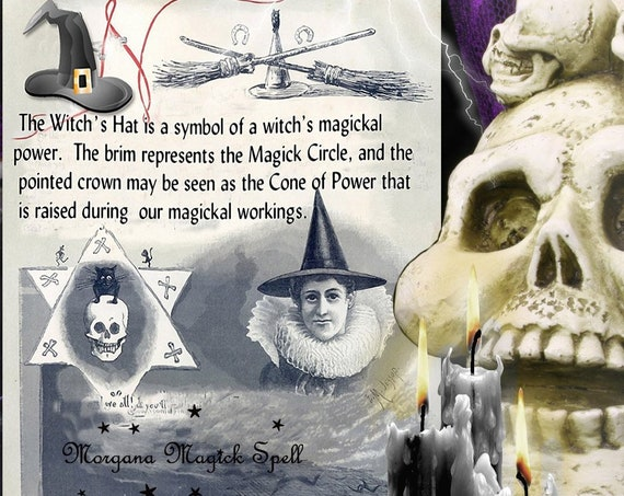 THE WITCH'S HAT Information Page for Book of Shadows - Instant Download