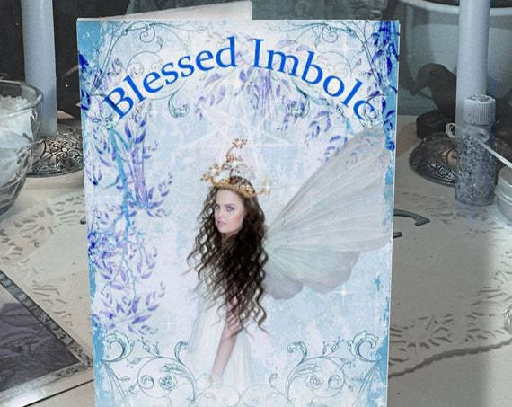 BLESSED IMBOLC Greeting Card, Printable Instant Download