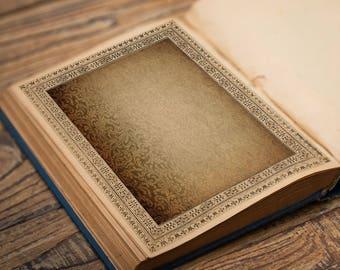 PAISLEY BOOK of SHADOWS Page, Digital Download,  Blank Book of Shadows Grimoire, Scrapbook, Spells