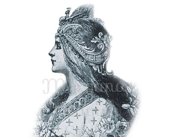 Goddess Cameo Royalty Free Clipart