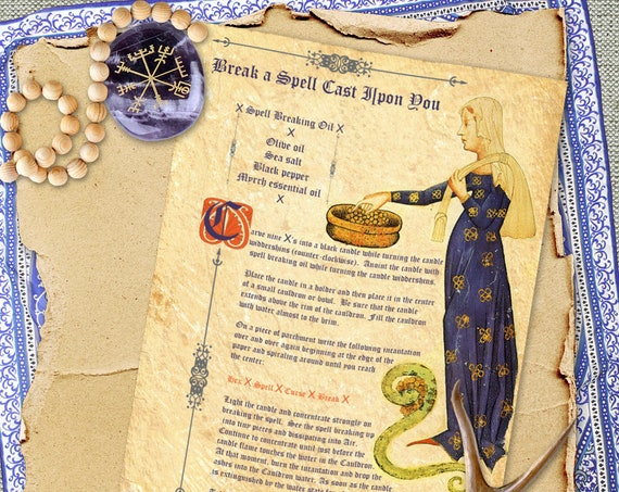 Break a Spell Cast Upon You  Book of Shadows Page - Instant Download