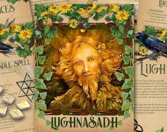 LUGHNASADH Lammas Wiccan SABBAT | Book of Shadows | 11 Pages | Printable Witchcraft Download| Lughnasadh Magic Correspondences Spell Magic