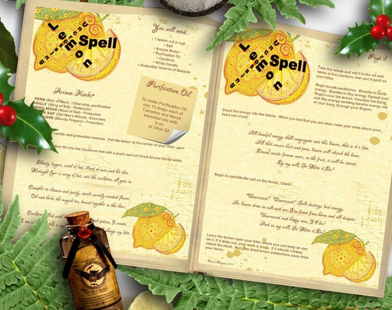 Lemon Uncrossing Spell 2 Pages - Instant Download