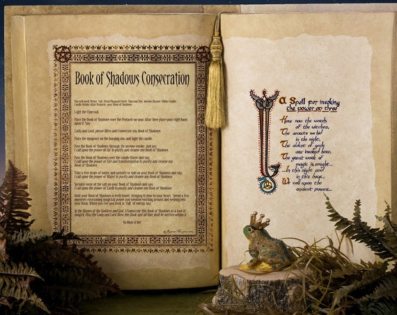 CONSECRATE BOOK of SHADOWS - Instant Download