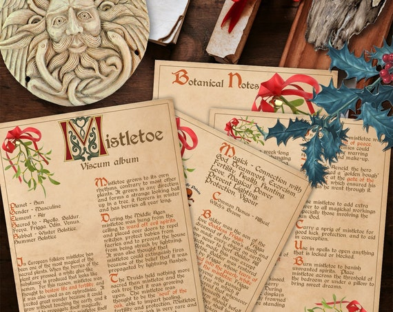 BANEFUL MISTLETOE Witch's Herb  For your Book of Shadows - Instant Download