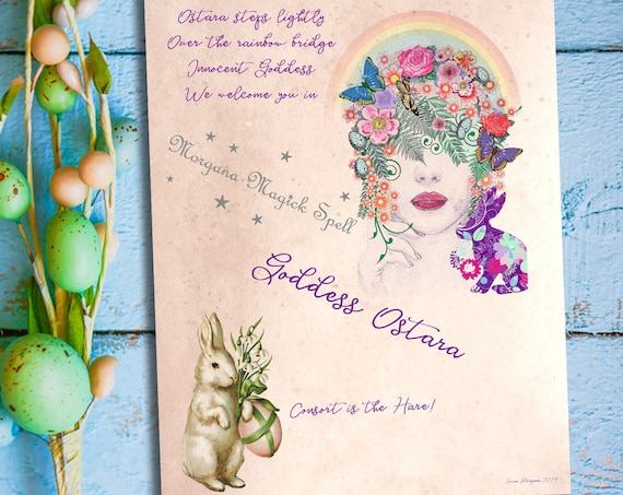 GODDESS OSTARA, CHARMED Style - Instant Download for Book of Shadows