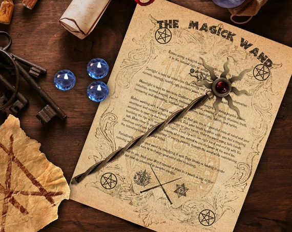 THE MAGICK WAND - Cleansing, Charging and Uses- Instant Download