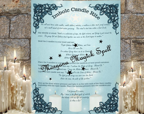 IMBOLC CANDLE RITE   - A simple Imbolc Ritual - Instant Download