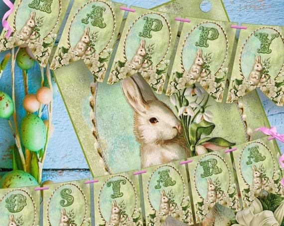 HAPPY OSTARA  BANNER, Printable Bunting  - Instant Download