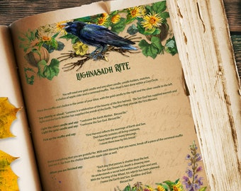 LUGHNASADH RITE | Simple Easy Wiccan Ritual | Lughnasadh Magic | Earth Magick | Harvest Magick | God Lugh Spell | Download Letter and A4