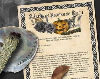 SAMHAIN SMUDGING SPELL | Smudge Cleansing| Smudging Ritual Prayer | Smudge Yourself | Samhain Smudge | Banishing Spirits