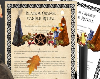 SAMHAIN CANDLE RITUAL   Candle Magic   Candle Spell   Halloween Spell   Wicca Sabbat Magick   Halloween Magic   Instant Download
