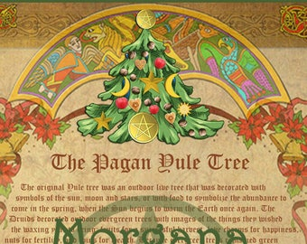 Yule sabbat 5 pages digital download book of shadows pages etsy the pagan yule tree book of shadows winter solstice digital download grimoire magick spell christmas pagan wicca m4hsunfo