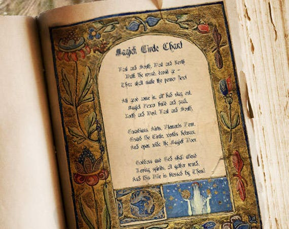 MAGICK CIRCLE CHANT for Book of Shadows - Instant Download