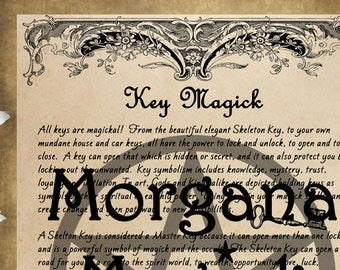 KEY MAGICK, Digital Download, 3 PAGES Book of Shadows Grimoire, Scrapbook,  Wicca, Pagan, Witchcraft, White Magick, Magick Spell