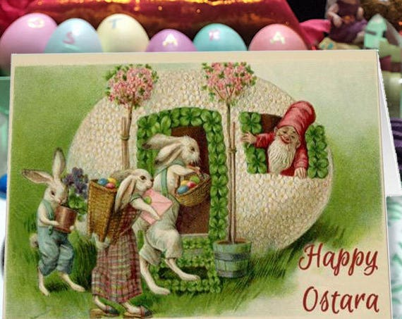 Printable Happy Ostara Greeting Card