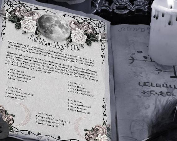 Full Moon Oils Recipes