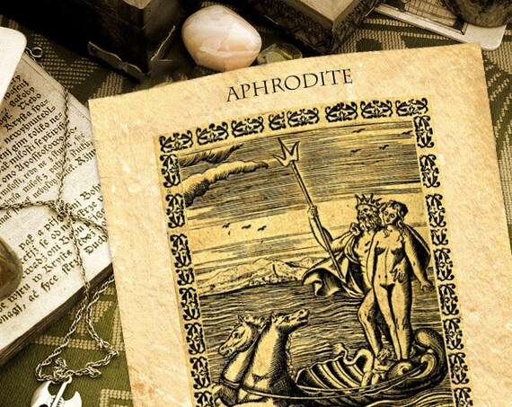 Aphrodite Ancient Parchment Instant Download