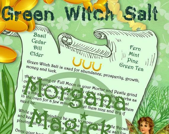 GREEN WITCH'S SALT - Prosperity, Money & Luck