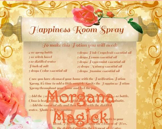 Happiness Room Spray Potion