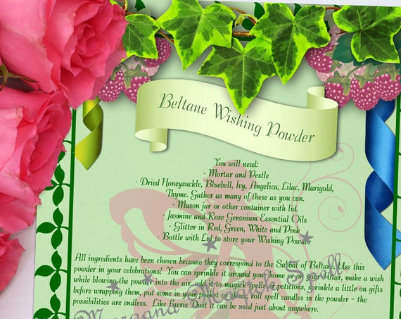 Beltane Wishing Powder