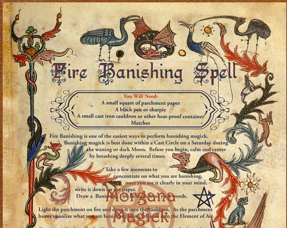 Fire Banishing Spell