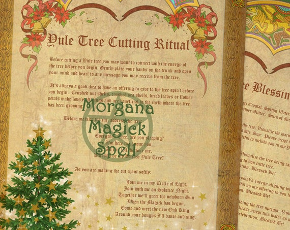 Yule Tree Cutting & Blessing Rituals