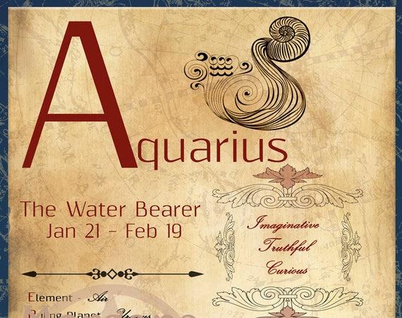 AQUARIUS ZODIAC, Digital Download
