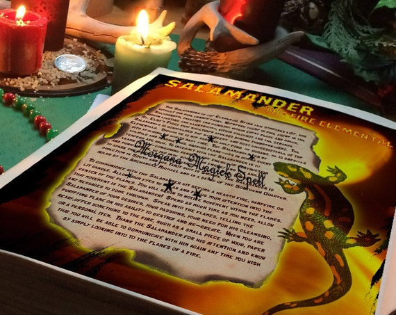 Salamander the Fire Elemental Spirit